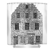 New Amsterdam: House, 1626 Shower Curtain