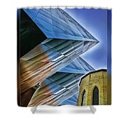 New And Old Building Shower Curtain