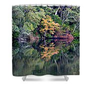 New England Fall Reflection Shower Curtain