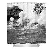 New England Hurricane, 1938 Shower Curtain by Science Source