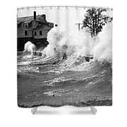 New England Hurricane, 1938 Shower Curtain