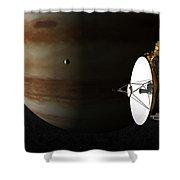New Horizons Flies By Jupiter Shower Curtain