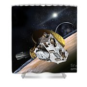 New Horizons Spacecraft At Pluto Shower Curtain