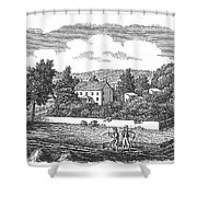 New Jersey Farm, C1810 Shower Curtain