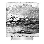 New Jersey: Train Wreck Shower Curtain