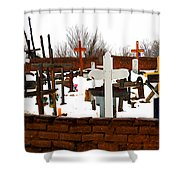 New Mexico Christmas Eve Shower Curtain