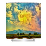 New Mexico Dawn Shower Curtain