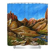 New Mexico Highlands In Spring Shower Curtain