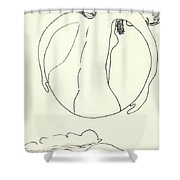 New Mexico Moon 3 Shower Curtain