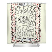 New Mexico Moon 4 Shower Curtain