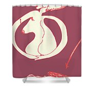 New Mexico Moon Rose Shower Curtain