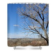 New Mexico Series - A View Espanola Shower Curtain