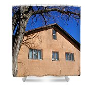 New Mexico Series - Adobe Building Shower Curtain
