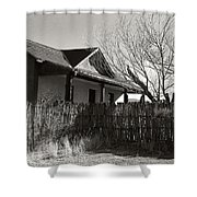 New Mexico Series - Fenced In House Shower Curtain