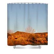 New Mexico Series - Moonrise Autumn Shower Curtain