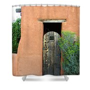 New Mexico Series - Santa Fe Doorway Shower Curtain