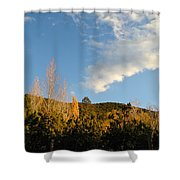 New Mexico Series - Santa Fe Landscape Autumn Shower Curtain