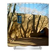 New Mexico Series - Shadows On Adobe Shower Curtain