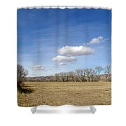 New Mexico Series - The Long View Shower Curtain