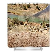 New Mexico Series Turn Of The River Shower Curtain