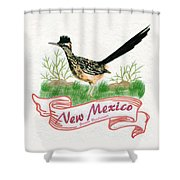 New Mexico State Bird The Greater Roadrunner Shower Curtain