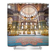 New Mosque Interior In Istanbul Shower Curtain