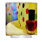 New Nail Polish Shower Curtain by Katie Cupcakes