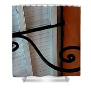 New Oleans White And Orange Shower Curtain