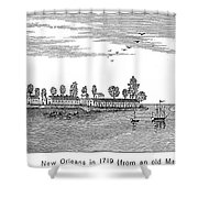 New Orleans, 1719 Shower Curtain