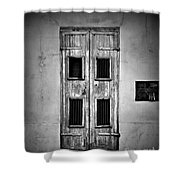 New Orleans Classic Doors Shower Curtain