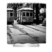 New Orleans Classic Streetcars. Shower Curtain