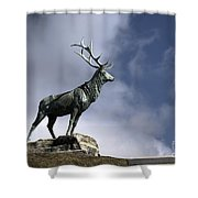 New Orleans Stag Statue Shower Curtain