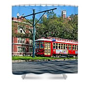 New Orleans Streetcar 2 Shower Curtain