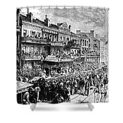 New Orleans Streetscene Shower Curtain