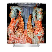 New Orleans Swan Fountain Shower Curtain