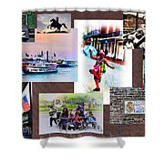 New Orleans The Birthplace Of Jazz Shower Curtain