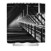 New River Gorge Bridge Catwalk Shower Curtain