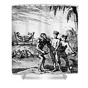 New World: El Dorado, 1727 Shower Curtain
