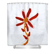 New World Flower Shower Curtain