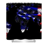 New World Map Shower Curtain