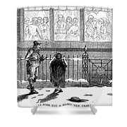 New Years Eve, 1859 Shower Curtain