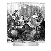 New Years Party, 1857 Shower Curtain