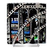 New York Abstract 1 Shower Curtain