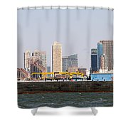 New York And The Barge Shower Curtain