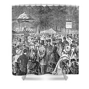 New York: Bandstand, 1869 Shower Curtain