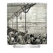 New York: Baseball, 1886 Shower Curtain