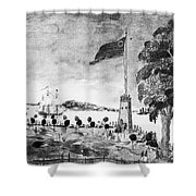 New York: Battery, 1793 Shower Curtain