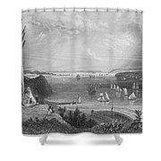 New York Bay, 1838 Shower Curtain