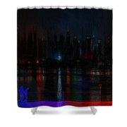 New York Bridges Shower Curtain