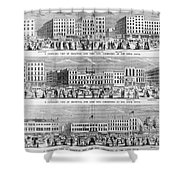 New York: Broadway, 1851 Shower Curtain